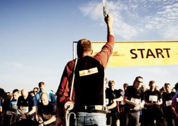 DHL stafet og grillmad fra Slagter Lund
