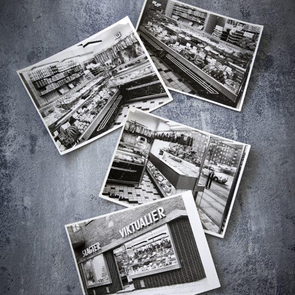 Collage af Slagter Lund på Peter Bangs Vej
